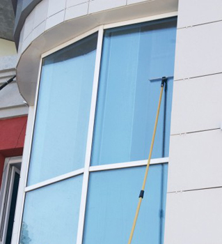Washing office windows